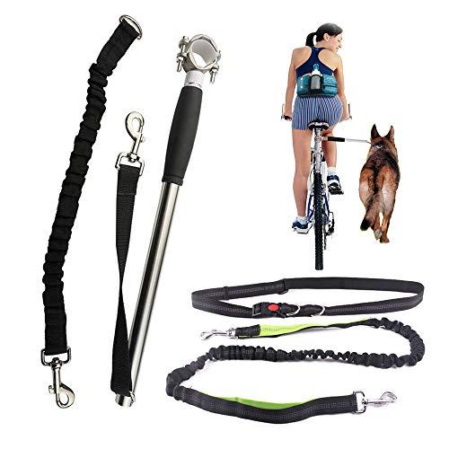 full hundeleine Fahrrad Abstand,Hund fahrradhalterung,hundehalterung für Fahrrad, Running Leash Dog,Hundetraining Zubehör,Einfache und schnelle Montage,Kombinationspaket.