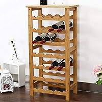 bakaji cantinetta porta bottiglie vino 28 posti in legno di bambù portabottiglie cantina casa bar ristorante dimensioni: 94 x 47 x 29 cm colore bamboo naturale