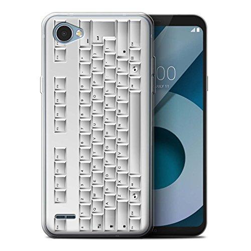 Stuff4® Gel TPU hoes/case voor LG Q6/M700 / toetsenbord/blanc patroon/knop/toetsen collectie