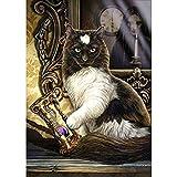 Gofission - Reloj de arena con diamantes de imitación 5D, diseño de gato con diamantes de imitación, 30,4 x 40,6 cm (gato)