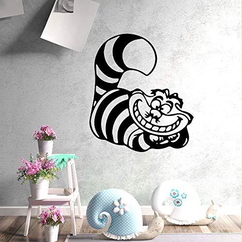 Amerikanische verrückte Katze Wandkunst Aufkleber moderne Wandaufkleber Zitat Vinyl Aufkleber Dekoration Wohnzimmer Schlafzimmer bewegliche Kunst Wandbild 43X47cm