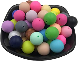 Babyjart Lot de 100 perles et boules de dentition en silicone 9 mm Marrone//Tortora