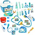 WTOR Toy 36Pcs Doctor Kit Pretend Play Doctor Toys Medical Kit for Toddler Boys Girls Children's Birthday School Classroom and Doctor Role Play