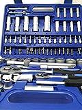 Tianfeng Tools - Valigetta con vasta gamma di 108 pezzi di chiavi bussola ed accessori, az...