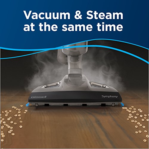 BISSELL Symphony Vac and Steam 2 in 1 vacuum and steam mop for Hardwood and Tile Floors, 4 mop pads included, 1132A