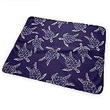 Wickelauflage,Marine Turtle Changing Pad Leichte Wasserdichte Wickelunterlage Für Home Travel Bed 50X70Cm