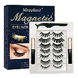 Pestañas Postizas Magneticas, Pestañas Magneticas Delineador, Magnetic Eyeliner, Impermeable y no...