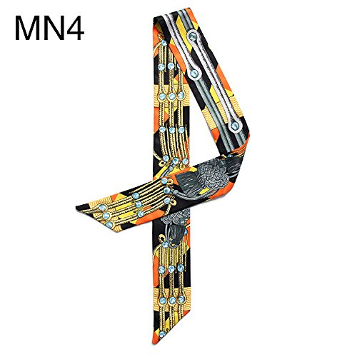 coolgoes 2piezas Fashion Color accesorio para el pelo hairband cinta de bolso colorido pañuelo de seda MN4