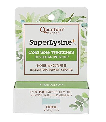 Quantum Health Super Lysine+ Cold Sore Treatment, Lip Balm Ointment - Menthol, Calendula, Propolis, Zinc Oxide - 7 gm