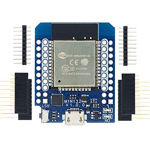 Aideepen Mini32 V1.0.0 WiFi開発ボードD1 Mini Pro ESP-32SモジュールボードArduino用、CP2104チップUSB-UART、WeMos用ピンコネクタと内蔵アンテナ付き、16M Byte WLANインターネットLUAモジュール産業のプログラミングに使用