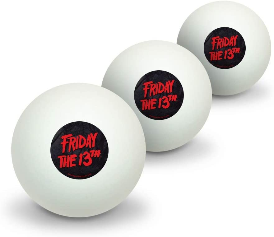 GRAPHICS MORE Friday The 13th Logo Ping P Japan Maker New Novelty Recommended Tennis Table