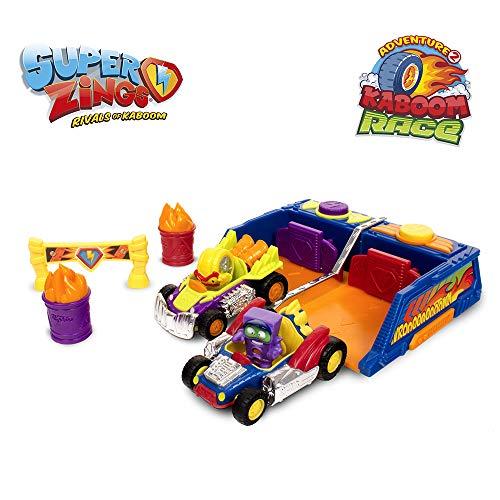 Superzings -  Kaboom Race Adventure 2,  con 2 vehículos y 2 exclusivas figuras SuperZings ,  color/modelo surtido