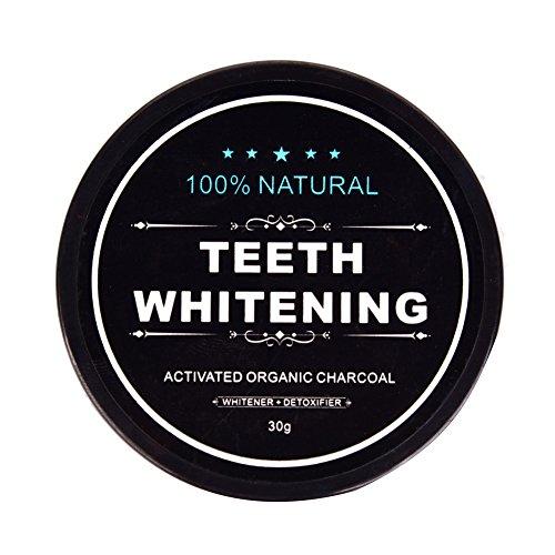 Ruier-Hui Weiß Zähne / Mit Aktivkohle Zähne Aufhellen / Natürliches Zahnaufhellungs Zahnpasta Pulver