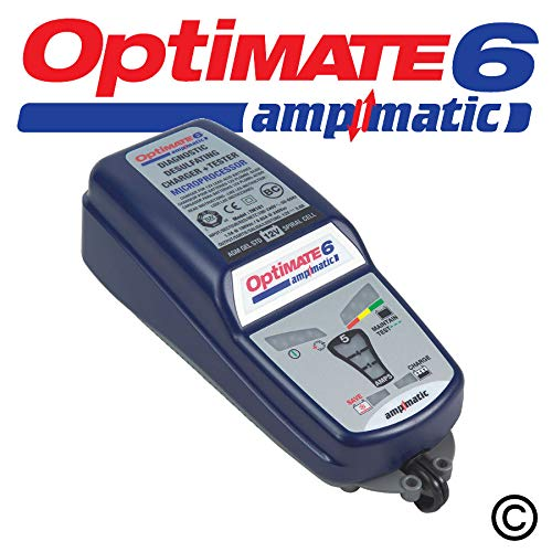Optimate 6 TM180 : Chargeur de batterie voiture, technologie Ampmatic 12V/5A