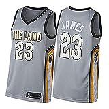 DIMOCHEN Movement Ropa Jerseys de Baloncesto para Hombres, NBA Cleveland Cavaliers 23# Lebron James, Fresco, cómodo, Camiseta Uniformes Deportivos Tops(Size:XXL,Color:G1)