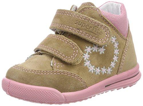 Superfit Baby Mädchen Avrile Mini Sneaker, Beige (Beige Kombi), 22 EU