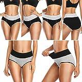 UMMISS Womens Underwear, High Waist Cotton Underwear Briefs Full Coverage Breathable Panties for Women