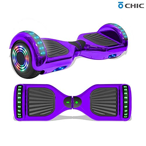 Learn More About Longtime 6.5 Chrome Metallic Hoverboard Self Balancing Scooter with Speaker LED Li...