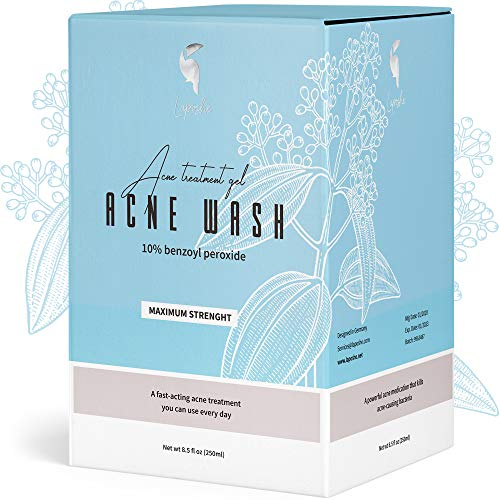 Benzoyl Peroxide 10% Acne Treatment Face Body Wash Acne Wash Reduce Redness to Help Prevent Breakouts and Treat Skin Inflammation