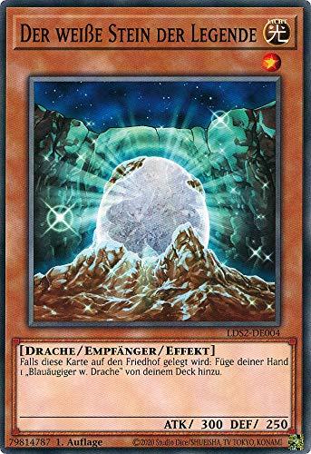 Konami - LDS2-DE004 - Der weiße Stein der Legende - Common - Yu-Gi-Oh! - Deutsch - mit GECO Versandschutz