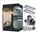 BestMart 2 in 1 Grow Tent Room Kit+400W LED Full Spectrum Professional Grow Light+6'' Inline Fan Air Carbon Filter Ventilation System Indoor Plant Grow Tent Complete Kit(LED 400W+60''x48''x80'' Kit)
