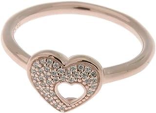 5cffb295c PANDORA Shimmering Puzzle Heart Frame Ring, PANDORA Rose & Clear CZ 186550CZ-54  EU