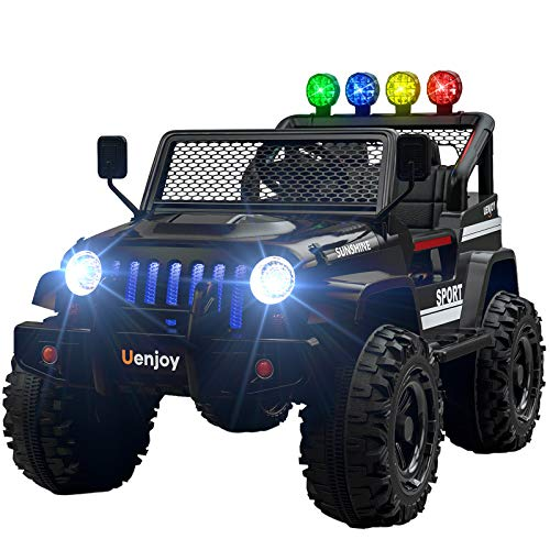 Uenjoy Ride on Car with Remote Control 12V Electric Car for Kids, Music, Story...