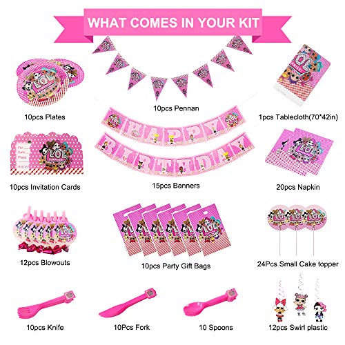 LOL Goodie Bags and Exclusive Pin By Another Dream LOL Surprise Birthday Party Favor Pack For 16 Guests With 16 LOL Surprise Glasses Activity Sheets MINI Notepads Slap Bracelets Tattoos Stickers