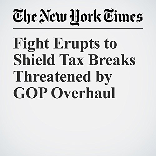 Fight Erupts to Shield Tax Breaks Threatened by GOP Overhaul copertina