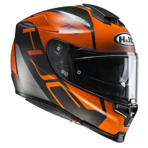 Casco de moto HJC RPHA 70 VIAS MC7SF, Negro/Oroange, XL