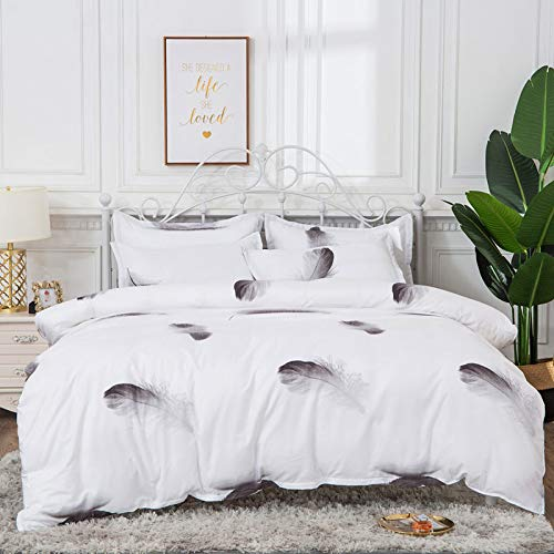 Duvet cover and pillowcase bedding quilt cover single double room king-size bed-Baiyu