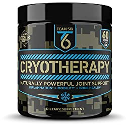T6 Cryotherapy - Natural Joint Support Supplement   Arthritis Pain Relief, Anti Inflammatory Cartilage Repair & Bone Strength   Type 2 Collagen Pills + Curcumin with Bioperine + Boswellia Extract,30Sv