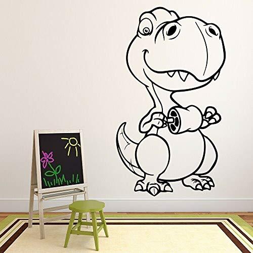 wZUN Tyrannosaurus Dinosaurio Tatuajes de Pared patrón de Dibujos Animados Mural Vinilo Pegatinas niños Dormitorio decoración de guardería 57X33cm