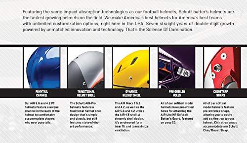 Schutt Sports Air MAXX Hockey-Style Catcher's Helmet with Steel Faceguard Matte Pink