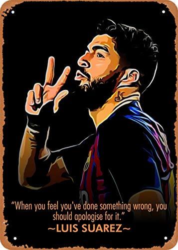 LuckyUNN Metal Tin Sign - Luis Suarez 2# Club Bar Man Cave Metal Poster Metal Crafts