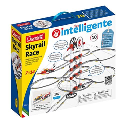 Quercetti-Quercetti-6663 Skyrail Rail Race-Circuito de canicas, Juego Educativo de construcción (6663)