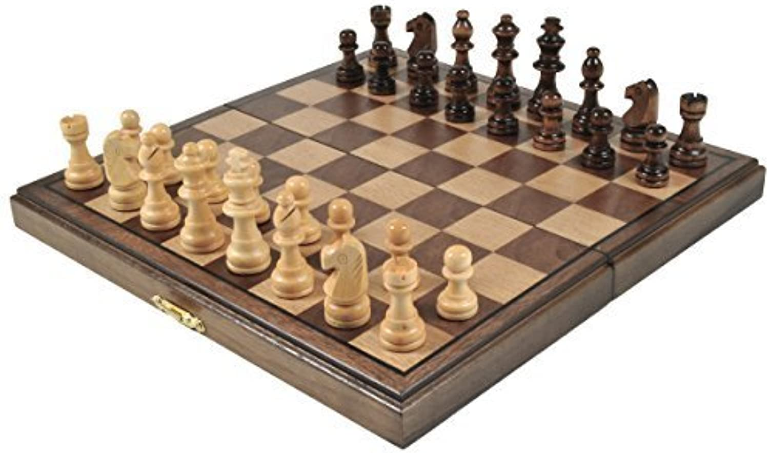 Wooden Magnetic Chess Set – 10.75 inches x 10.75 inches