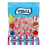 Vidal Golosinas, Fresas Silvestres Pica, Color Rojo, Caramelo de Goma con Forma y Sabor a Pica, Fresa, Bolsa 1 Kg