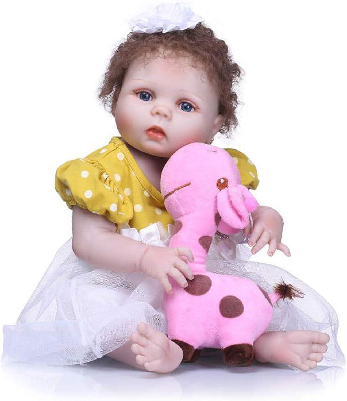 grandes ahorros IIWOJ Realista Reborn Reborn Reborn bebé niña muñeca, Encantadora Completa de Vinilo de Silicona 22,05 Pulgadas-Realista recién Nacido Ojos de acrílico  sin mínimo