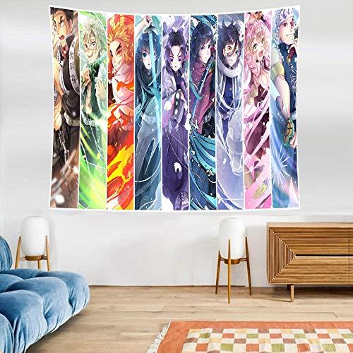 LSSWY Tapices,Anime Sword Art Online Cuadrícula Juegos HD Arte Cortinas Colchonetas De Yoga Sábanas Tabiques Habitación Infantil Sala De Estar Decoración del Hogar Talla C
