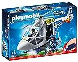 Playmobil - Hélicoptère de Police avec Projecteur de Recherche - 6921