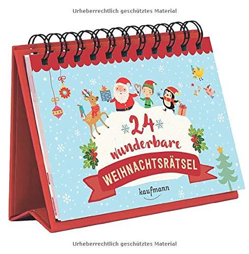 24 wunderbare Weihnachtsrätsel (Adventskalender für Erwachsene: Aufstell-Buch mit Rätseln)