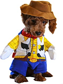 Woody Dog Costume - Toy Story Pet Costume, Cute Cowboy Dog Costume Halloween Dog Cosplay Costume Fashion Dress for Puppy Small Medium Large Dogs Special Events Funny Photo Props Accessories