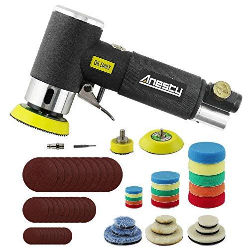 Mini ponceuse excentrique à air comprimé;Anesty Mini ponceuse orbitale 25mm/50 mm/ 75mm Air...