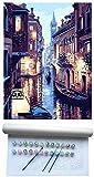Números Digitales Pintura al óleo Conjunto petróleo Pintura de DIY Kit de Pintura al óleo Digital Bricolaje Pintura Pintada a Mano de Pintura de la decoración de Flores Paisaje de la casa por, B