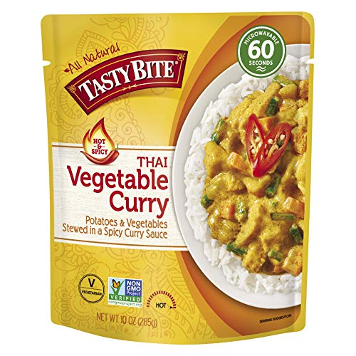 Tasty Bite Thai Hot and Spicy Vegetable Curry Microwaveable Ready to Eat Entrée 10 Ounce Pack of 6