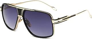Sunglasses for Men Oversize Classic Black Shades Goggle Retro Brand Designer Gold Alloy Frame Sun Glasses