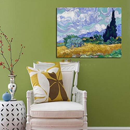 Pintura de la mano de alta calidad decorativa casera pintura al óleo del arte del arte pinturas famosas pintura de van gogh cuadro pintura sin marco
