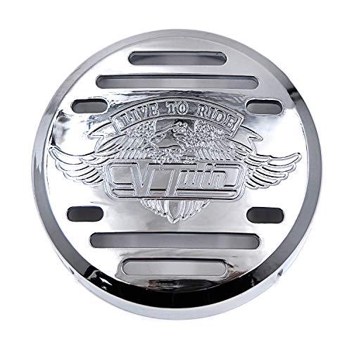 HTTMT MT246-004-CD Chrome Horn Cover Compatible with Kawasaki Vulcan 800 Yamaha V-Star 650 1100 Classic Silverado