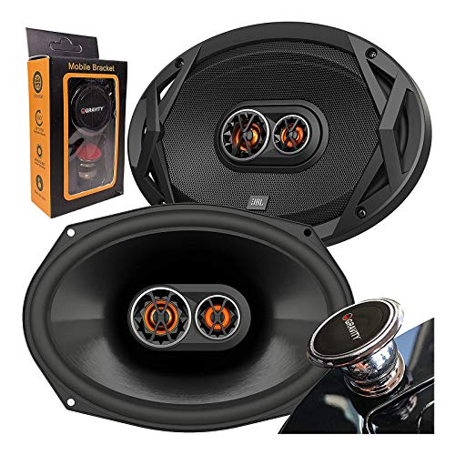 JBL Club 9630 480 Watts 6x9 Club Series 3-Way Coaxial Car Speakers with Gravity Magnet Phone Holder Bundle